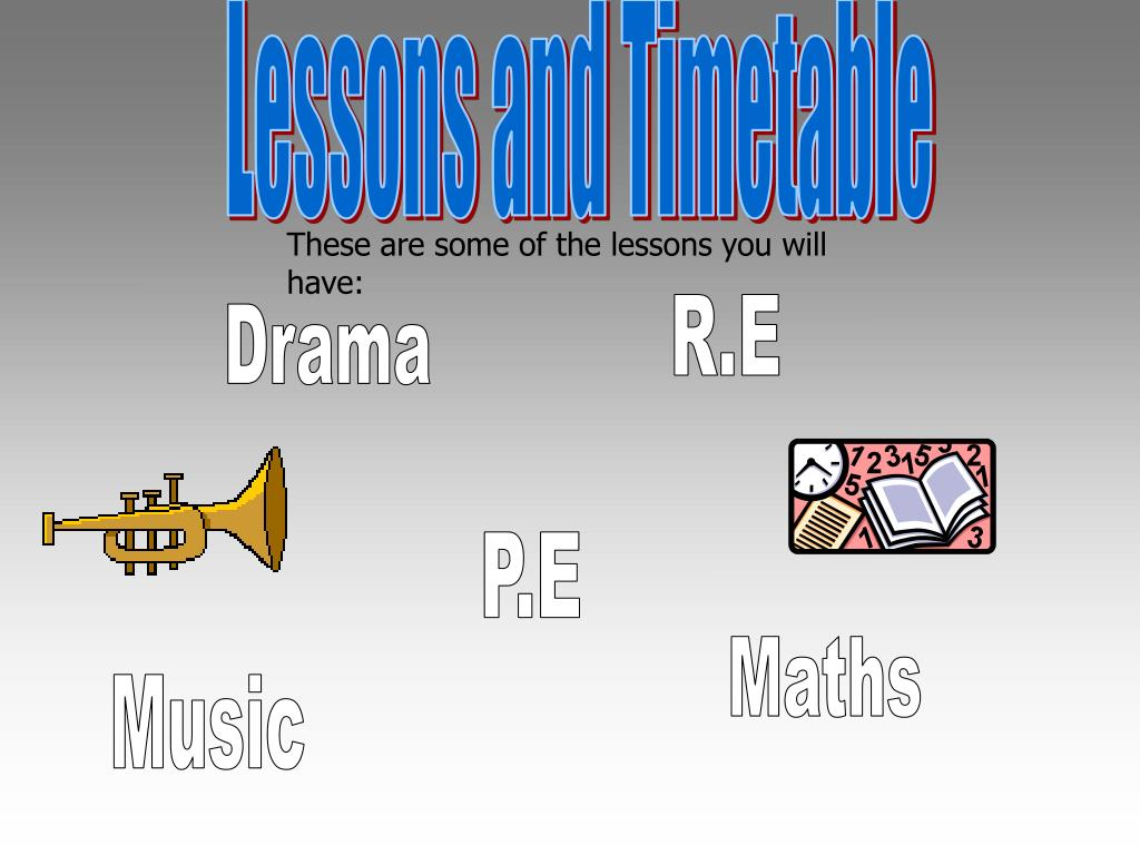 Lessons and Timetable