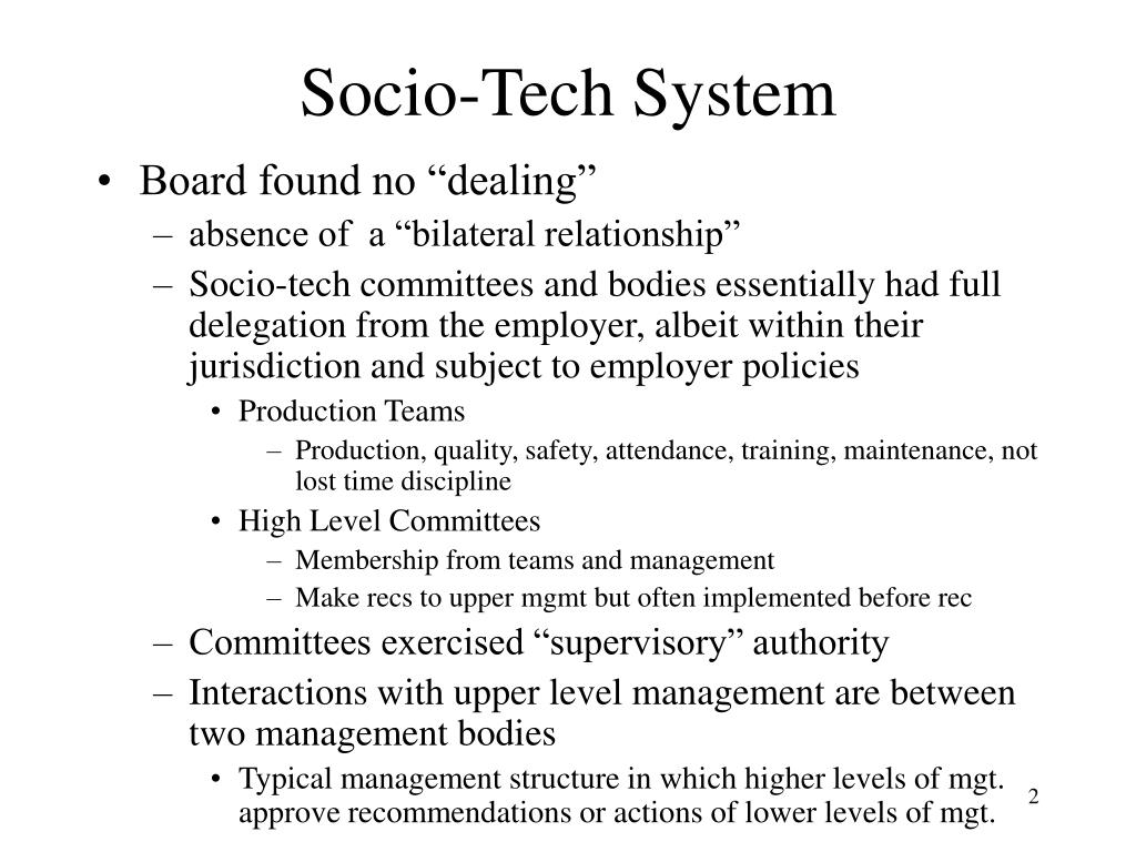 Socio-Tech System