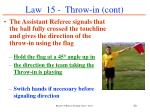 law 15 throw in cont