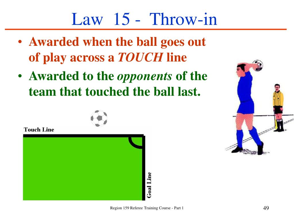 Law  15 -  Throw-in