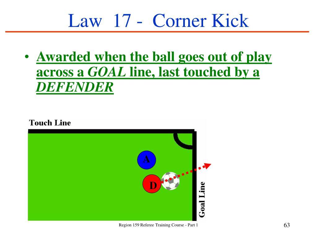 Law  17 -  Corner Kick