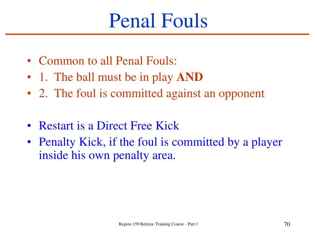 Penal Fouls