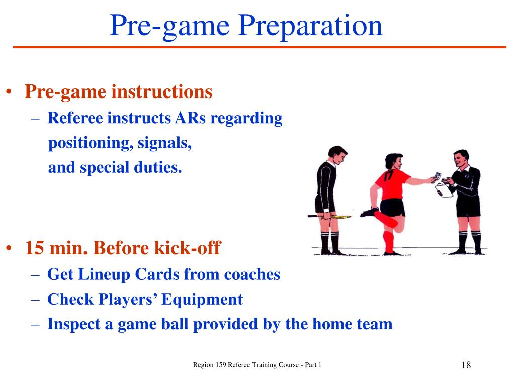 Pre-game Preparation