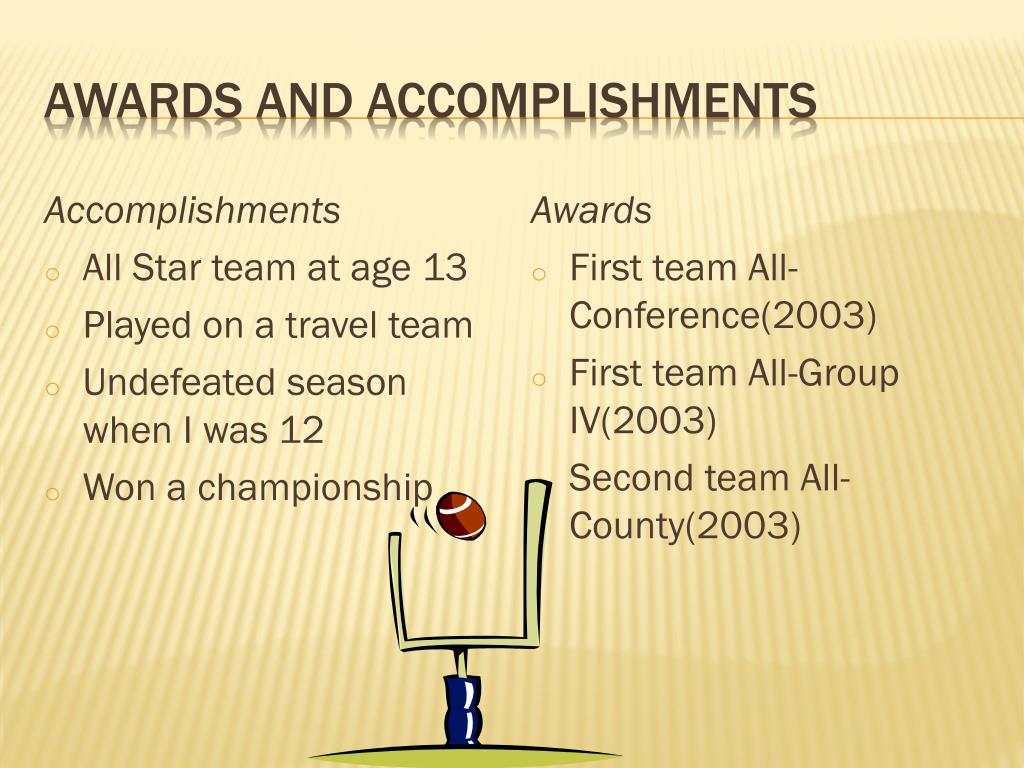 Awards and Accomplishments