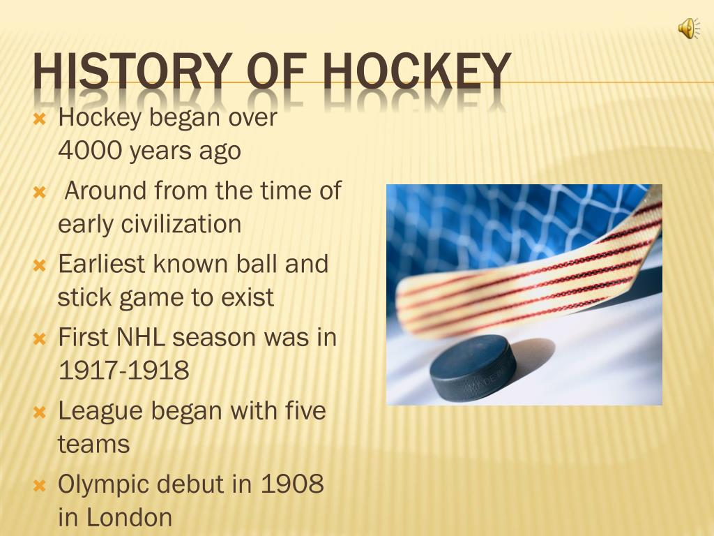 History of Hockey