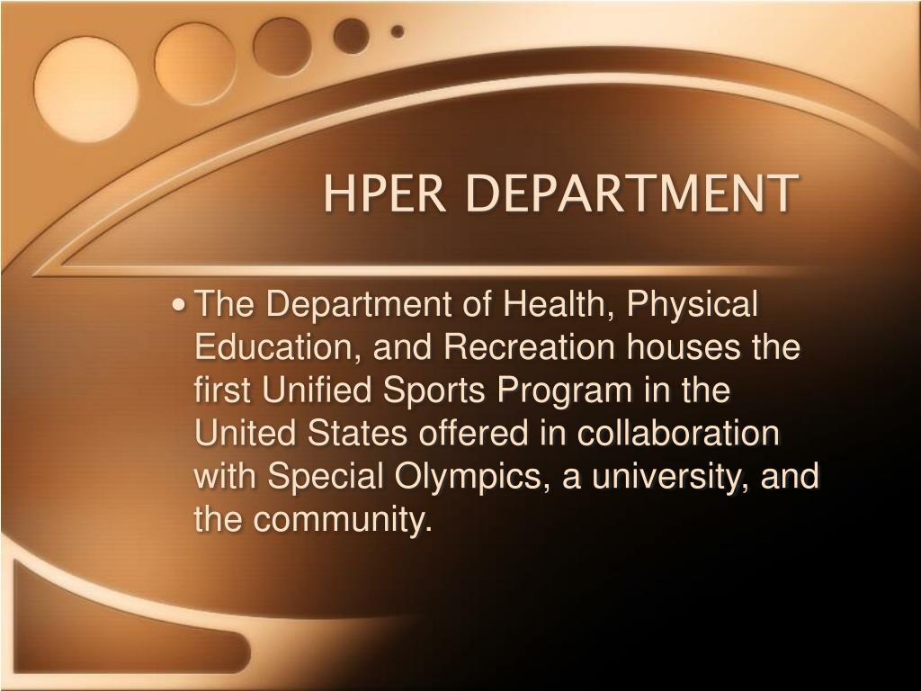 HPER DEPARTMENT