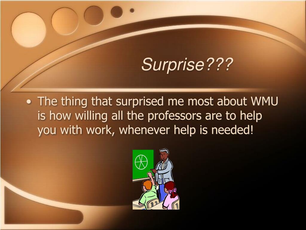 Surprise???
