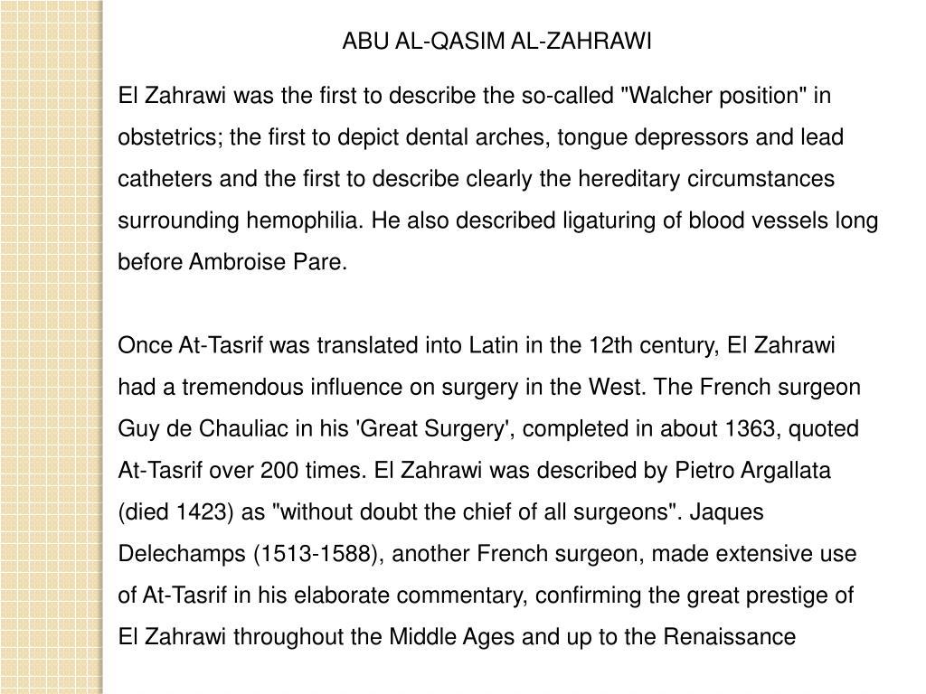 ABU AL-QASIM AL-ZAHRAWI