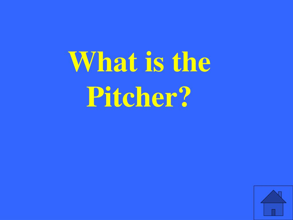 What is the Pitcher?