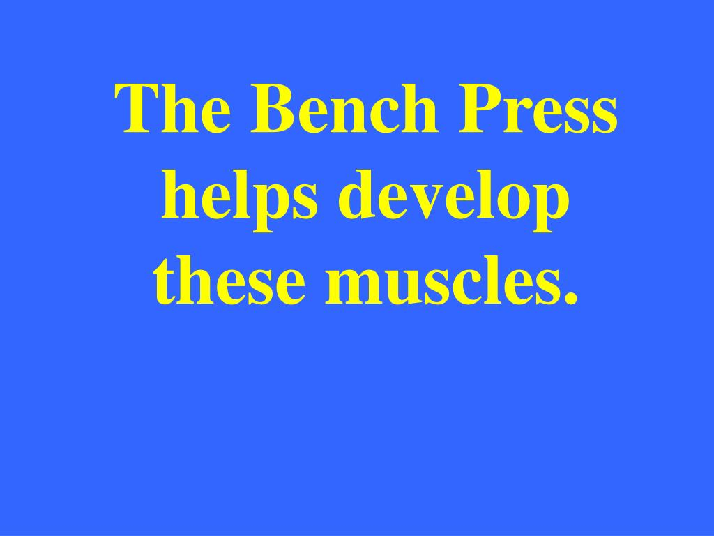 The Bench Press helps develop these muscles.
