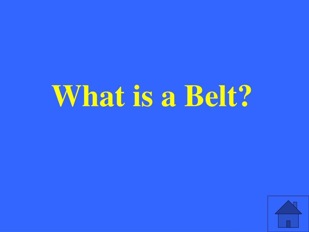 What is a Belt?