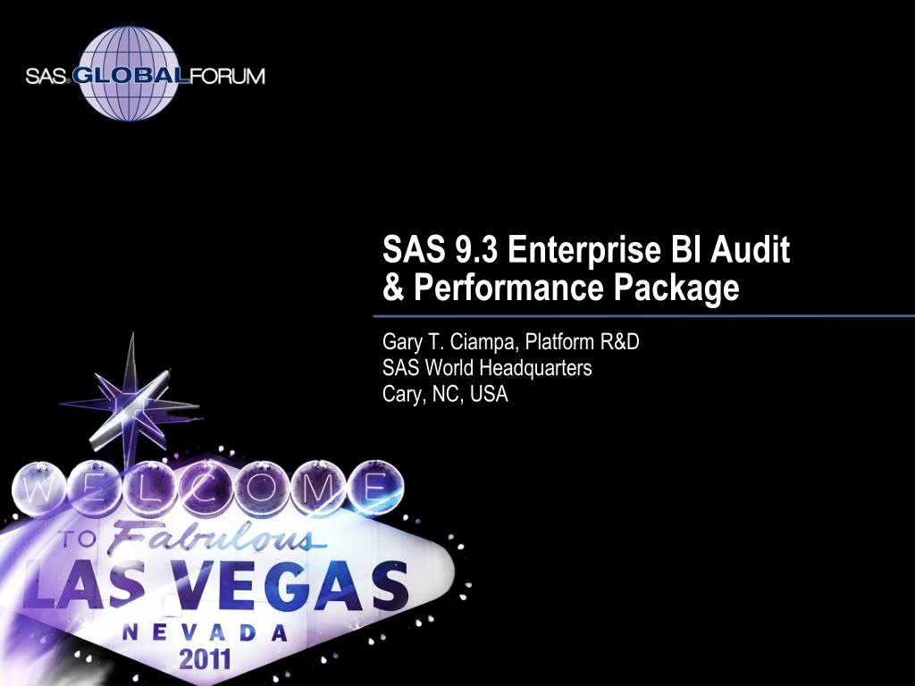 SAS 9.3 Enterprise BI Audit