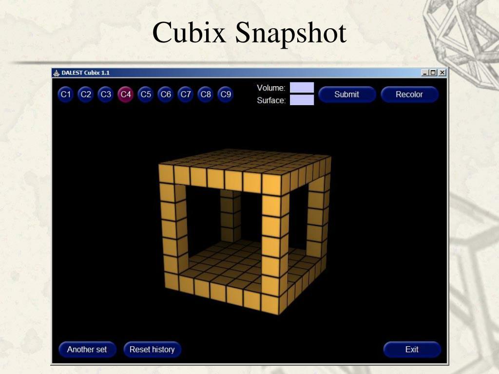 Cubix Snapshot