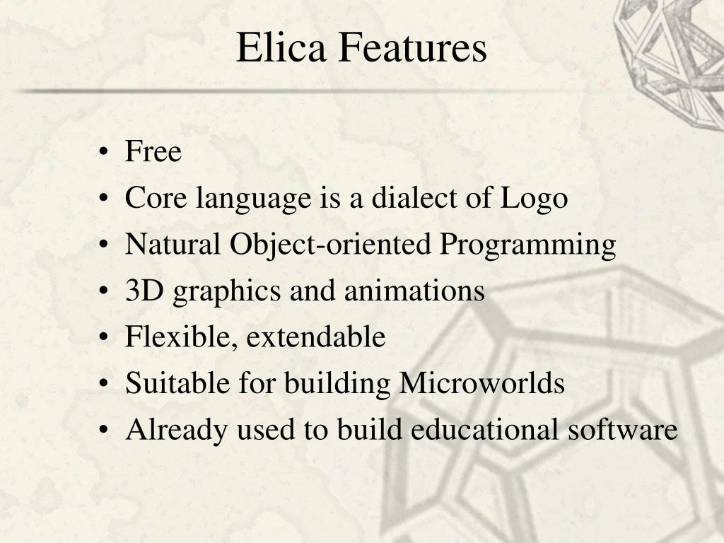 Elica Features
