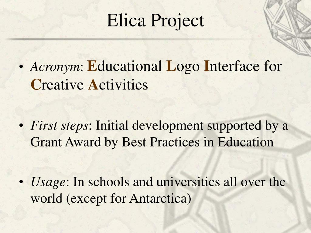 Elica Project