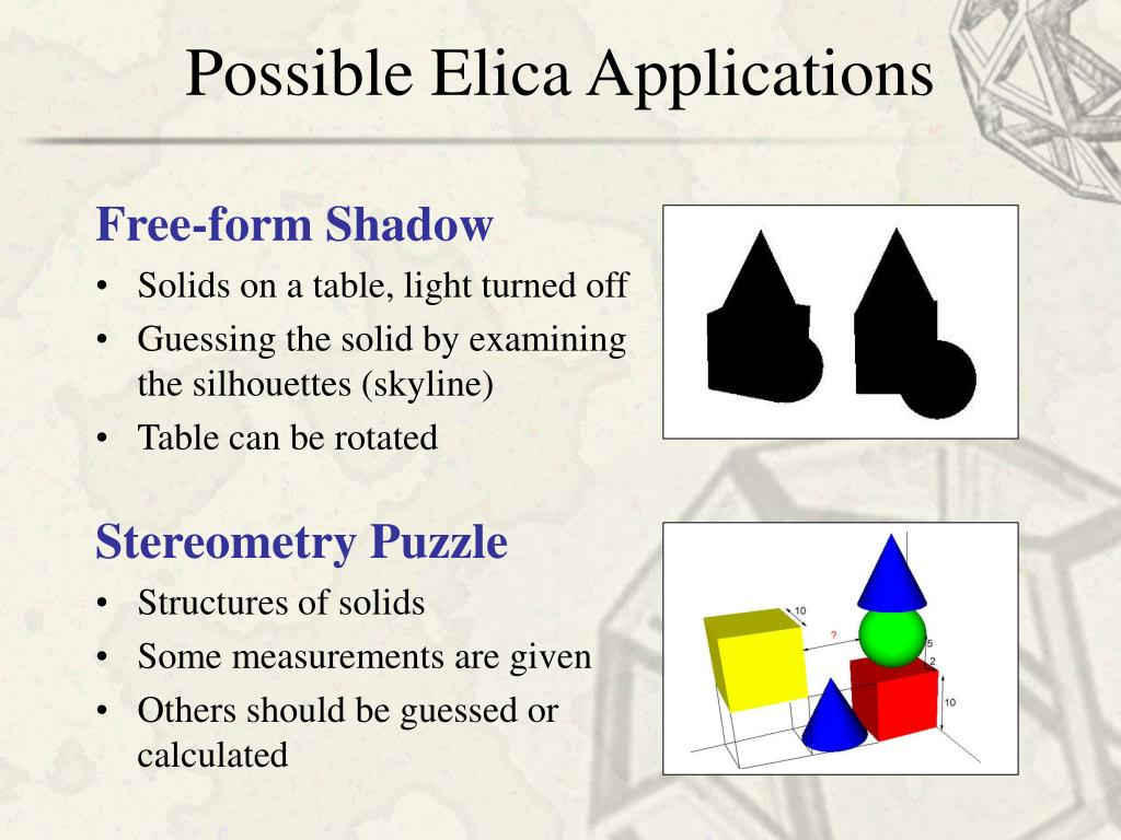 Possible Elica Applications