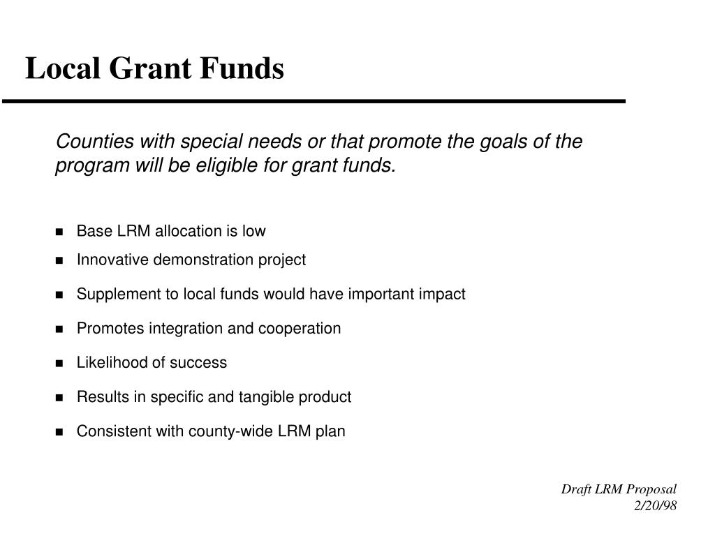 Local Grant Funds