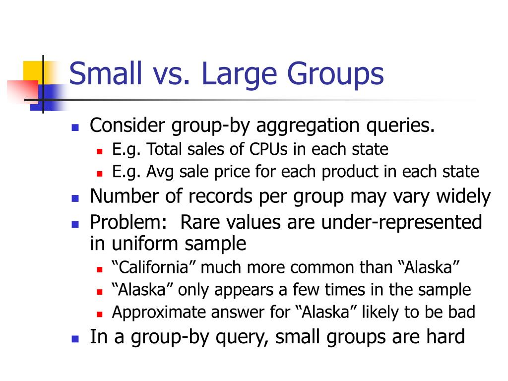 Small vs. Large Groups