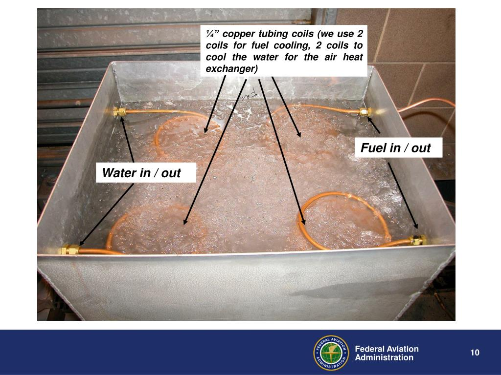 """¼"""" copper tubing coils (we use 2 coils for fuel cooling, 2 coils to cool the water for the air heat exchanger)"""