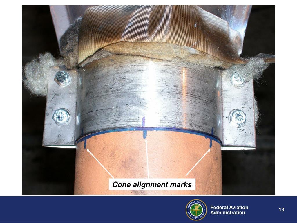 Cone alignment marks