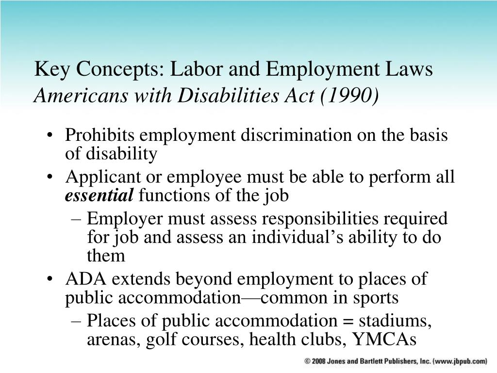 an understanding of the americans with disabilities act ada of 1990