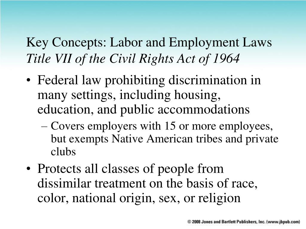 an analysis of the federal laws prohibiting job discrimination The equal employment opportunity acts of 1964  a critical analysis of the legislative  decisions prohibiting job discrimination were generally abstract in nature.