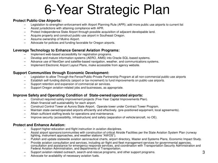 6 year strategic plan