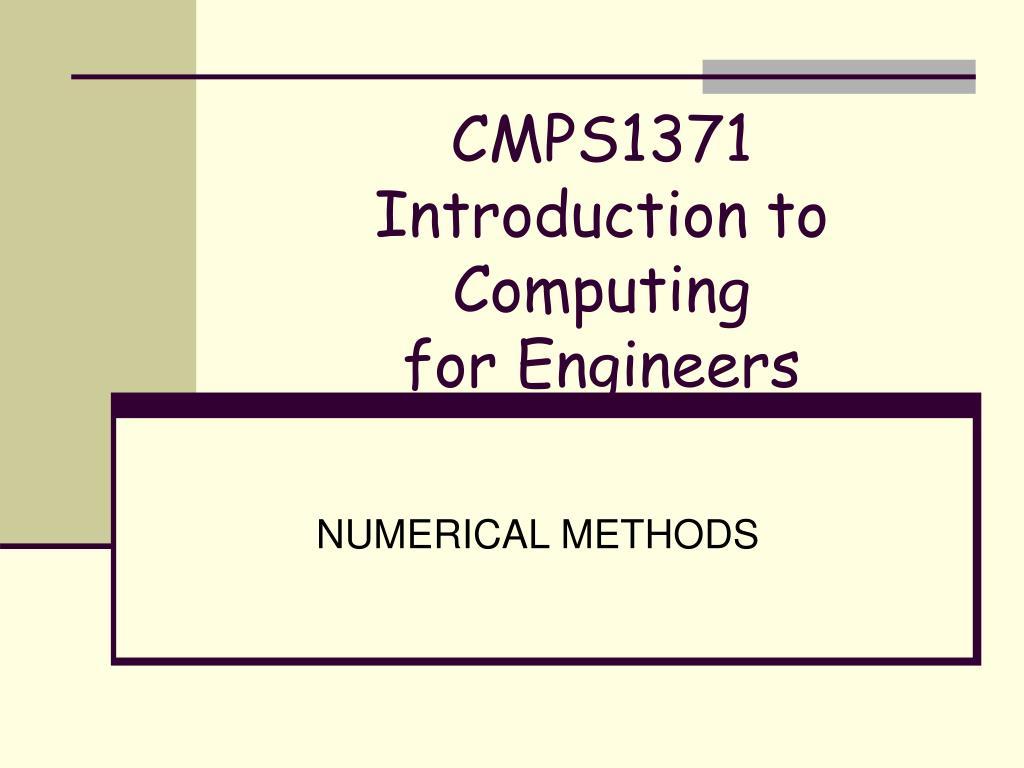 CMPS1371