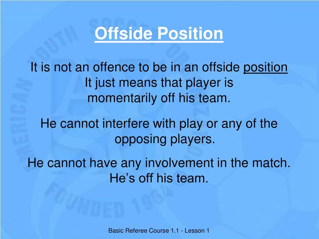 Offside Position