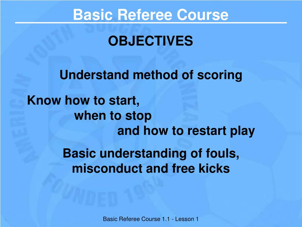 Basic Referee Course