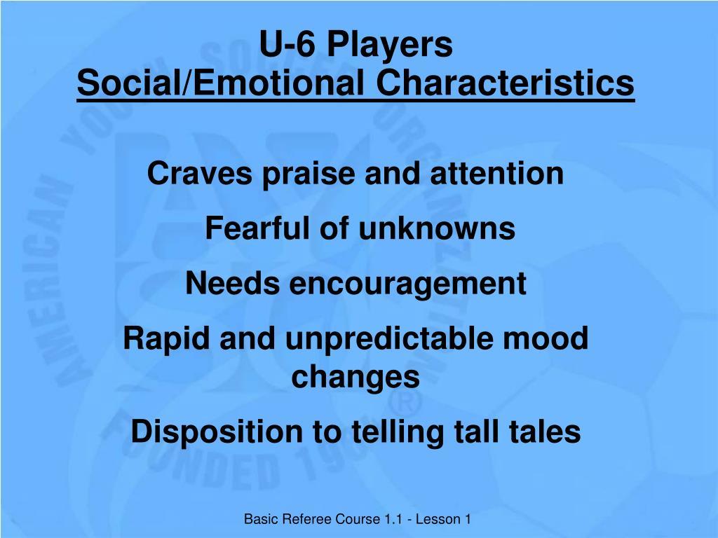 U-6 Players