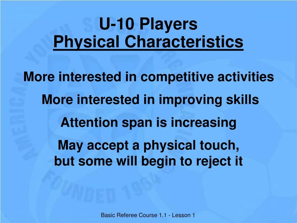 U-10 Players