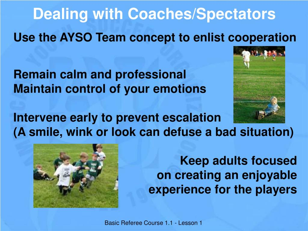 Dealing with Coaches/Spectators