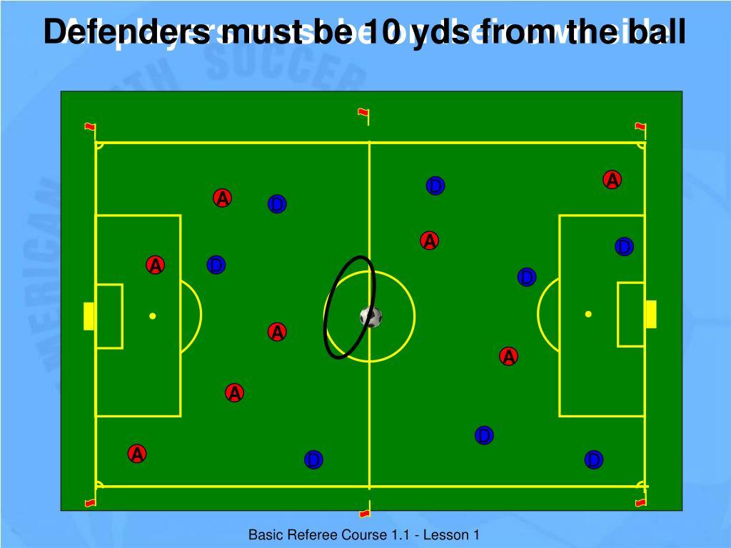 Defenders must be 10