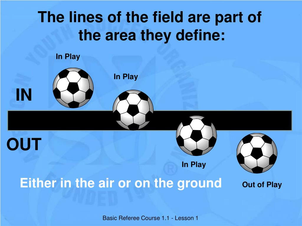The lines of the field are part of