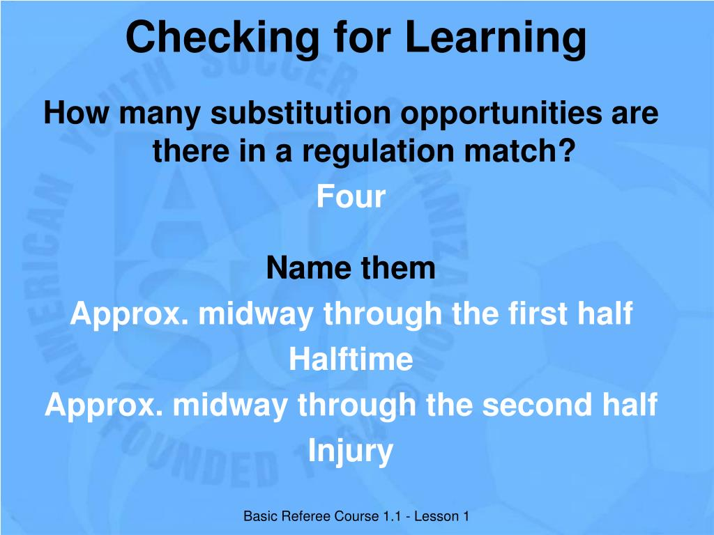 Checking for Learning