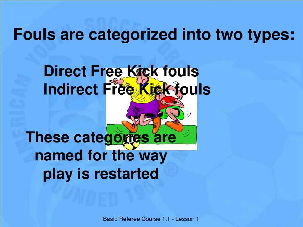 Fouls are categorized into two types: