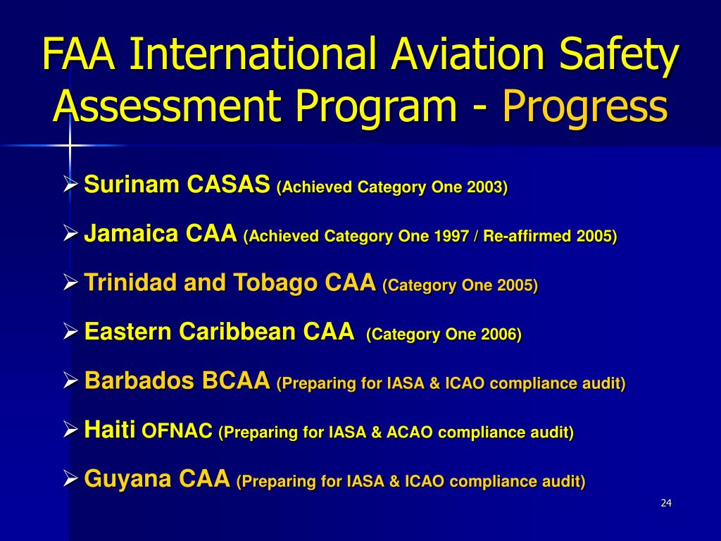 FAA International Aviation Safety Assessment Program -