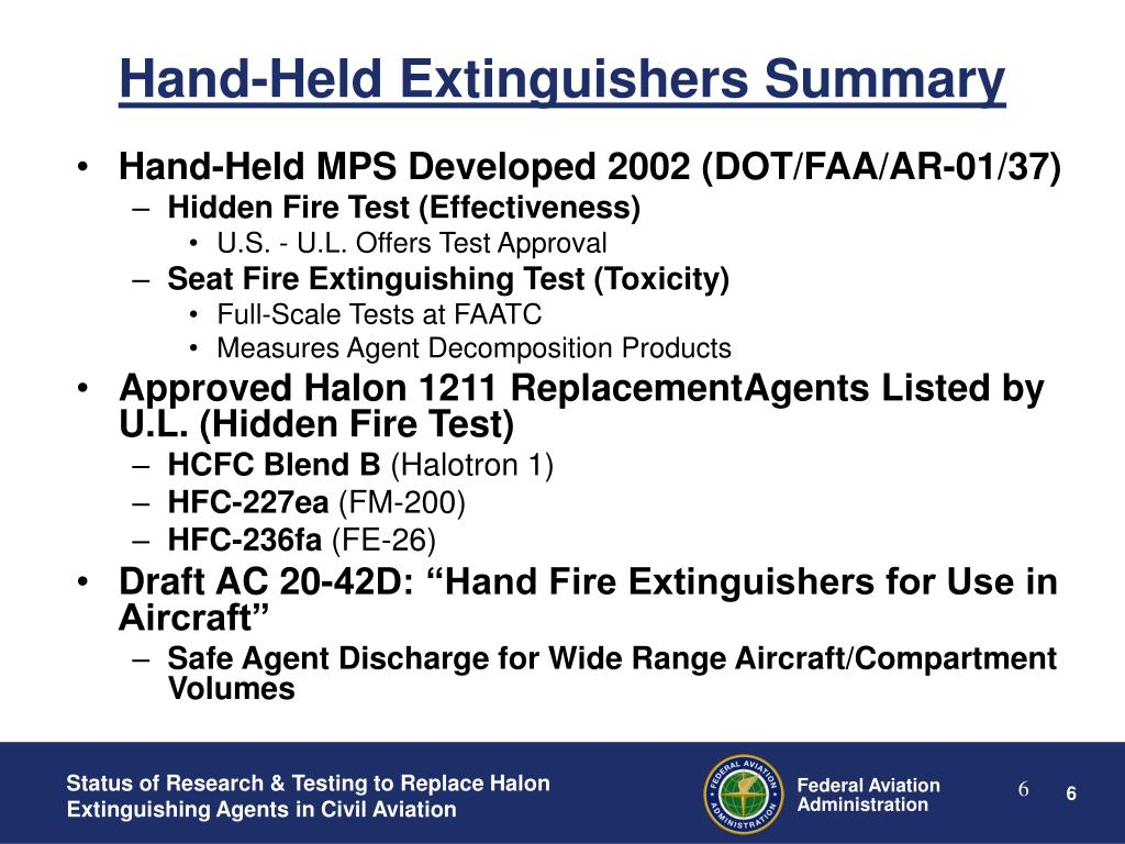 Hand-Held Extinguishers Summary