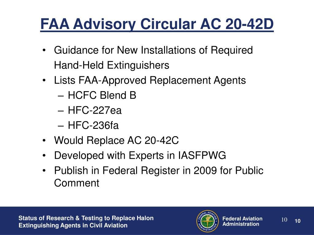 FAA Advisory Circular AC 20-42D