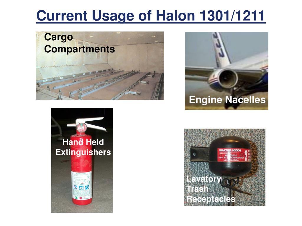Current Usage of Halon 1301/1211