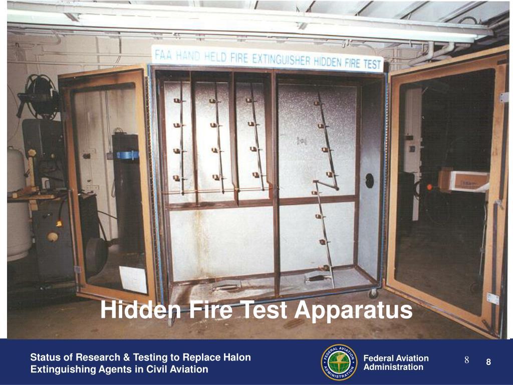 Hidden Fire Test Apparatus