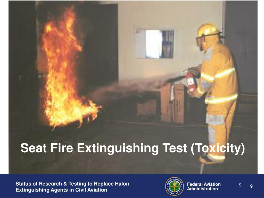 Seat Fire Extinguishing Test (Toxicity)