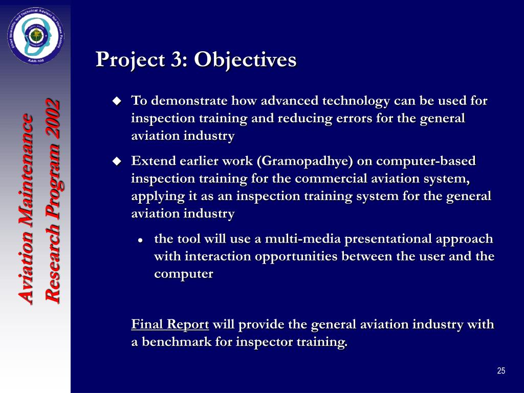 Project 3: Objectives