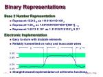 binary representations