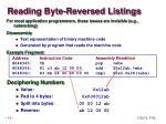 reading byte reversed listings