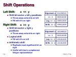 shift operations