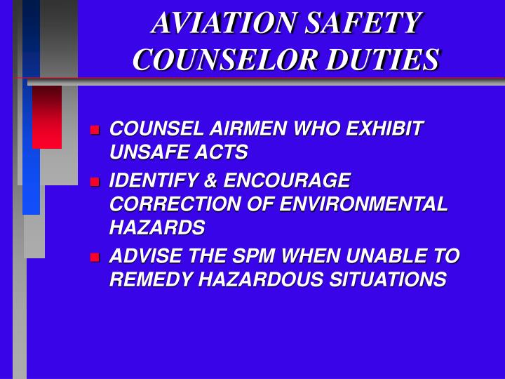 Aviation safety counselor duties2