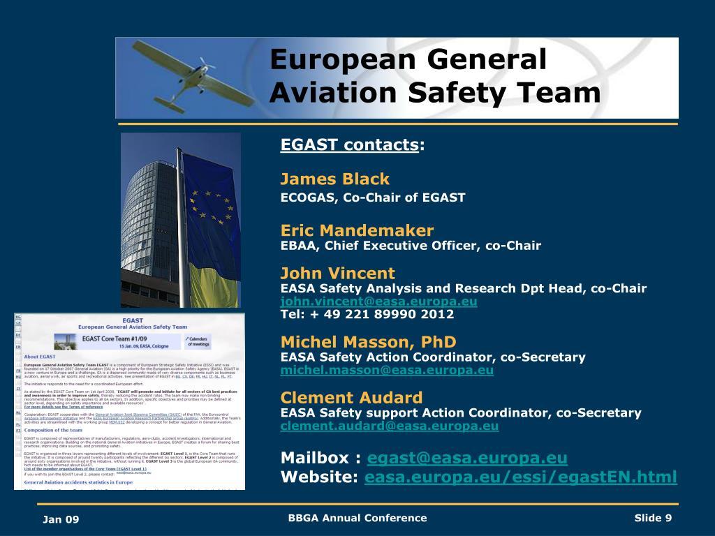European General Aviation Safety Team
