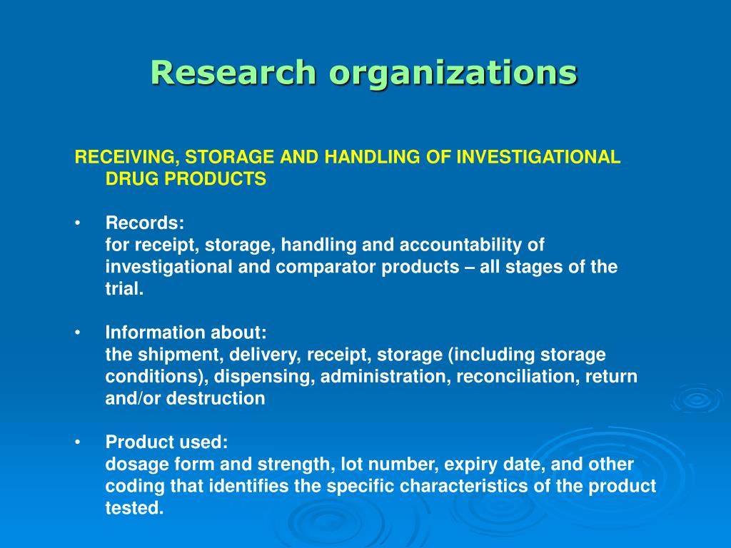 Research organizations